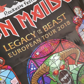 Αφίσα Iron Maiden Rockwave Festival με το νέο Metal Hammer
