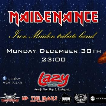 Iron Maiden the Greek FC και Maidenance στο Lazy 30/12/2019