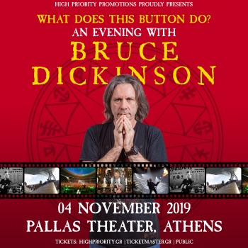 An evening with Bruce Dickinson στο Θέατρο Παλλάς, Αθήνα