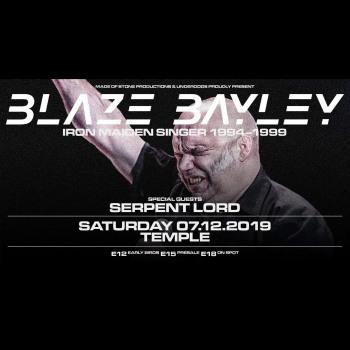 Ο Blaze Bayley για δύο εμφανίσεις στην χώρα μας