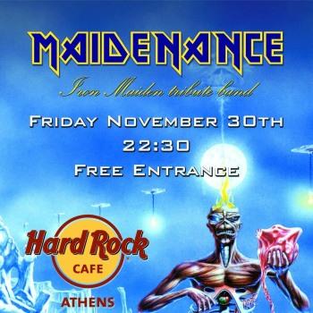 Iron Maiden the Greek FC και Maidenance στο Hard Rock Cafe 30/11/2018