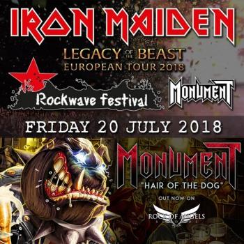 Οι Monument από την Αγγλία support στους Iron Maiden στην Αθήνα