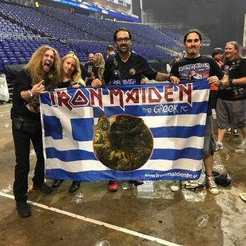 Το Iron Maiden the Greek FC στο Λονδίνο 10/08/2018