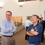 Bruce Dickinson visits Boeing training facility in Seattle