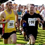 Bruce Dickinson competes in Grasmere sport's guides race