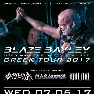 Blaze Bayley live in Athens w/ Maplerun, Marauder, Hailsteel